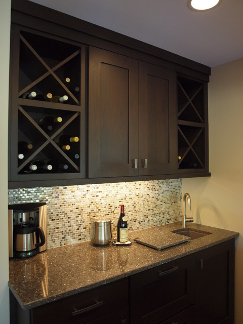 Kitchen and Bar Remodel Meets Style and Storage Needs - Contemporary - Home Bar - chicago - by ...