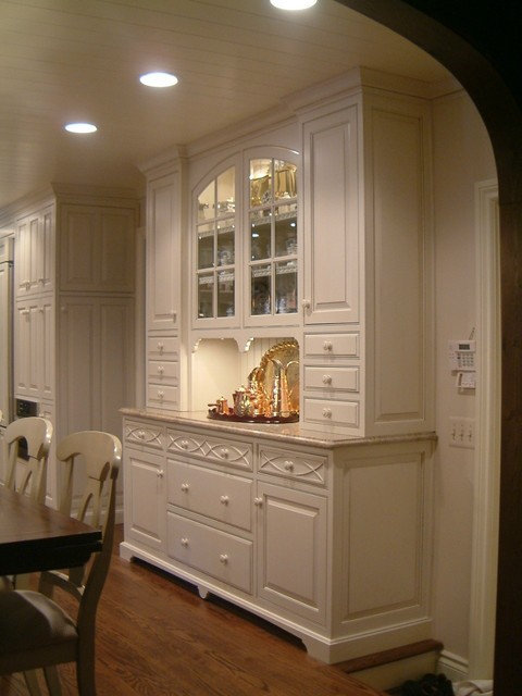 Kitchen hutch traditional kitchen detroit by m b - Kitchen built in cupboards designs ...
