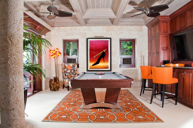 LAS VEGAS Pool Table By MITCHELL Pool Tables Tropical Home Bar