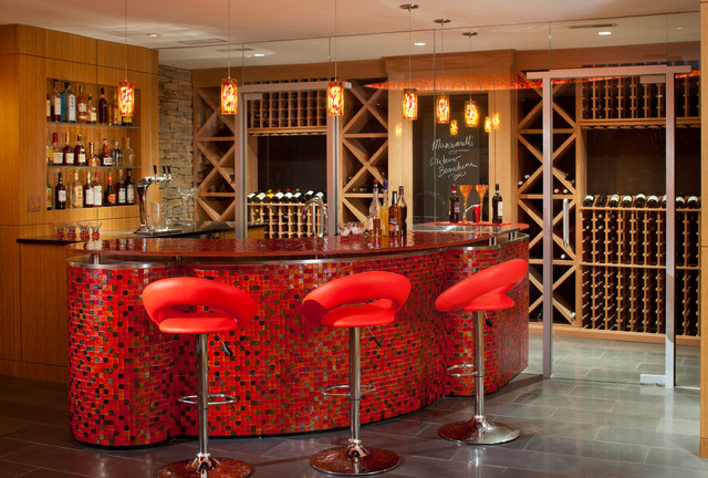 Laurel Woods Bar modern-wine-cellar