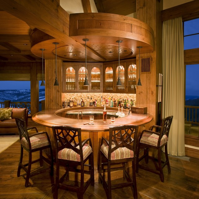 Legacy Heavy Timber Frame Custom Home W Observatory Diamond Star Colorado Rustic Home Bar
