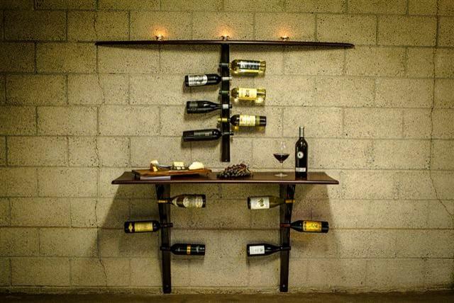 Custom wine rack for Custom wine bar