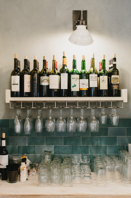 Liquor Shelf - Rustic - Home Bar - Atlanta - by Skylar Morgan Furniture + Design