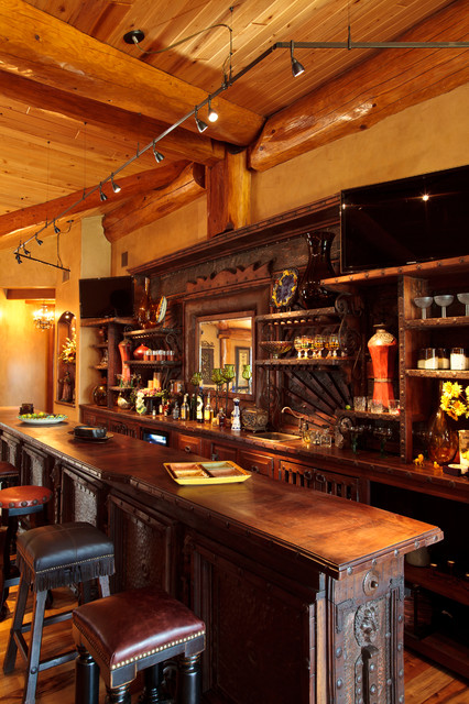 Captivating Log Cabin Awesome Rustic Home Bar