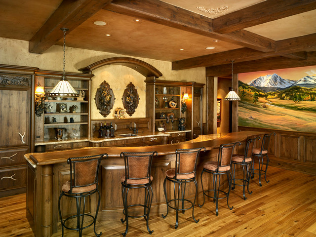 Loveland Rustic Home Bar Denver By Pioneer Log