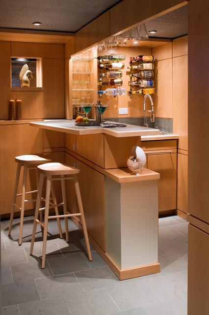 Lower Level Living - Midcentury - Home Bar - Philadelphia - by Princeton Design Collaborative