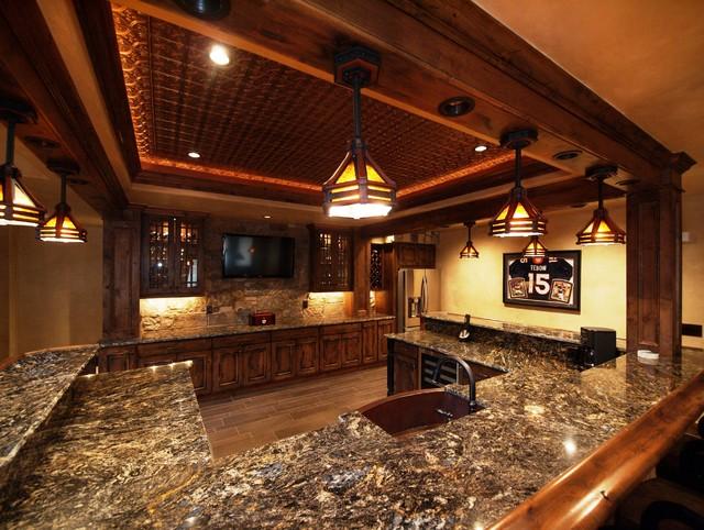 Luxury Custom Bars By Timber Ridge Properties - Home Bar - denver - by Timber Ridge Properties