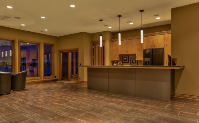 Luxury Estate Contemporary Home Bar Omaha By Eurowood Cabinets Inc