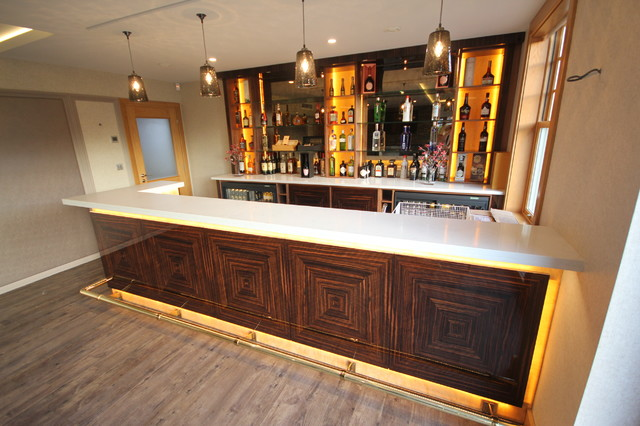 Luxury Home Bar In Macassar Ebony Modern Home Bar North West By Paul Case Furniture