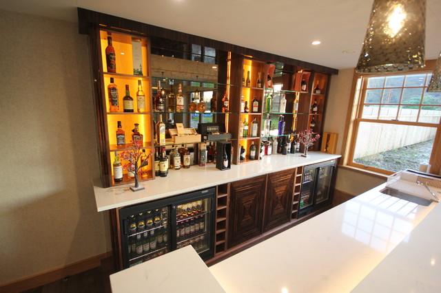 Luxury Home Bar in Macassar Ebony - Modern - Home Bar - Cheshire ...