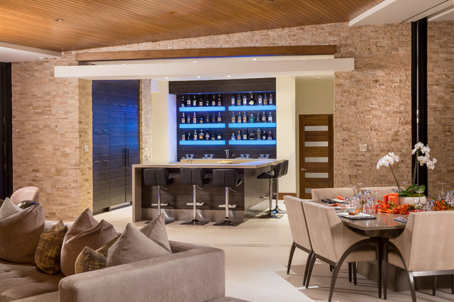Madison Club - Contemporary - Home Bar - Other - by Tate Interiors