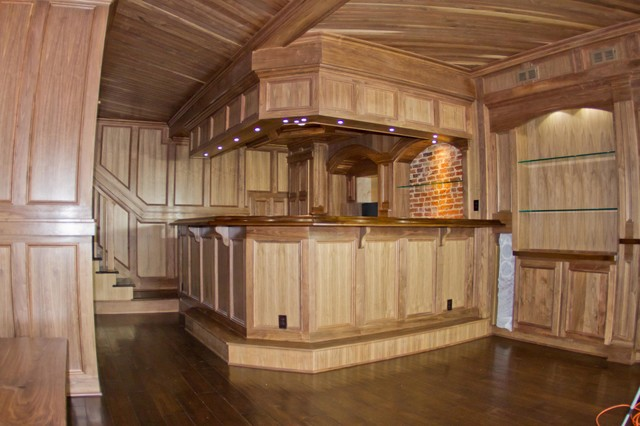 Man Cave Townhome Downtown Rustic Home Bar