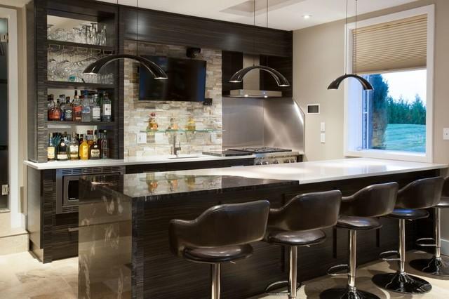 Mancave Entertainment Lounge Bar Games Room Kitchen Modern Home