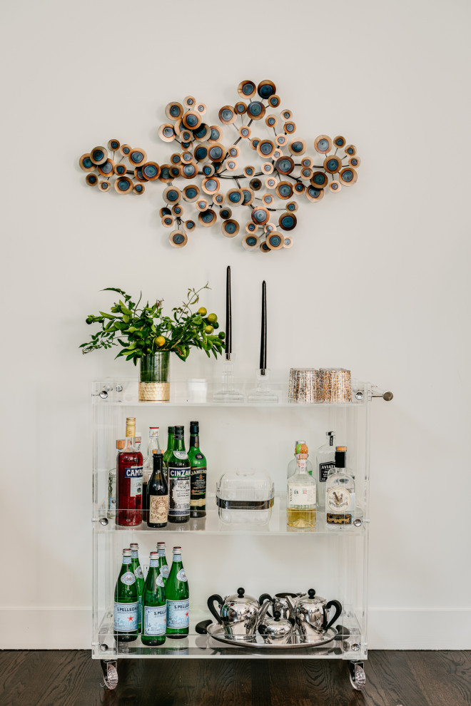 Inspiration for a contemporary home bar remodel in San Francisco