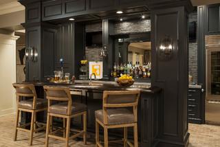Minnesota Residence - Transitional - Home Bar - Minneapolis - by Martha O'Hara Interiors