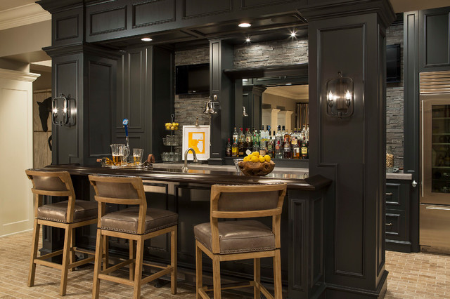 Minnesota residence transitional home bar for Interior design minneapolis