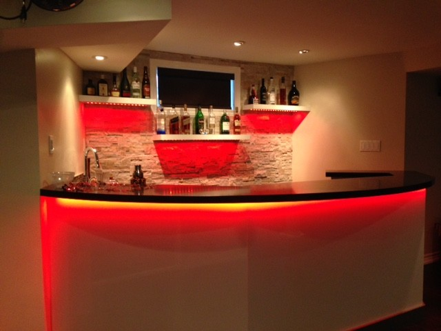Mississauga Residence Basement Bar Contemporary Home Bar Toronto By Roma Kitchens