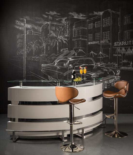 Xenia Bar Modern Home Bar Miami By El Dorado Furniture