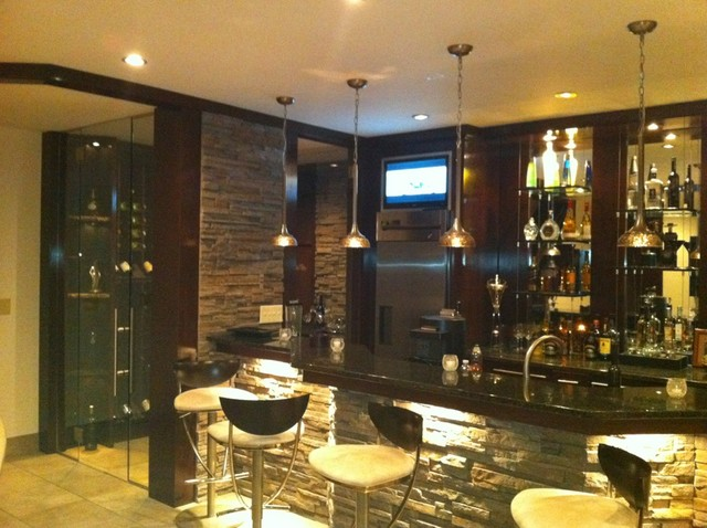 Contemporary Bar And Wine Room