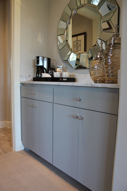 Modern Slab Flat Panel Cabinet Door Kitchen By Burrows Cabinets Modern Home Bar Austin