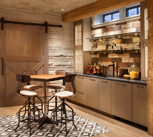 rustic home bar designs. Photo by LKID  Look for rustic home bar design inspiration Trending Now 8 Popular Ideas in Home Bars