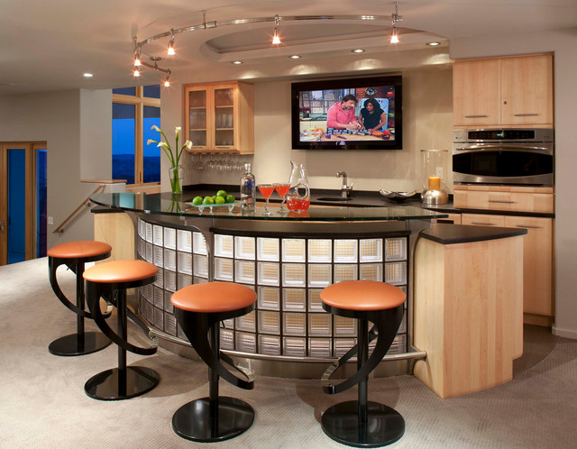 mountain modern addition - Contemporary - Home Bar - Denver - by TKP ...