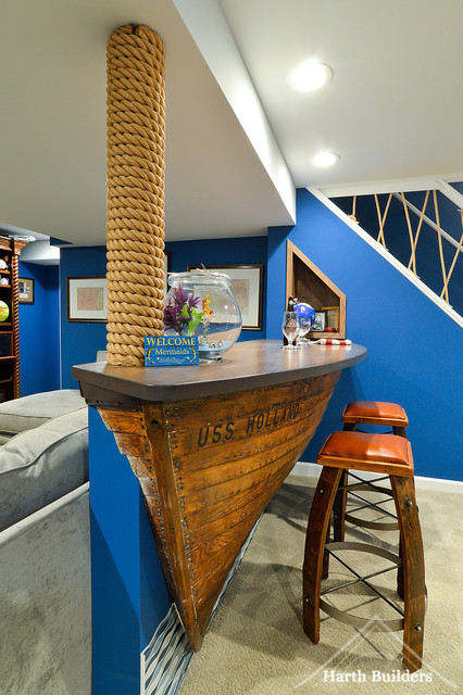 Naval Nostalgia - Beach Style - Home Bar - Philadelphia - by Harth ...