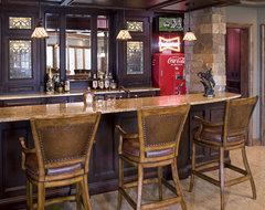 Lower Level Bar traditional-basement