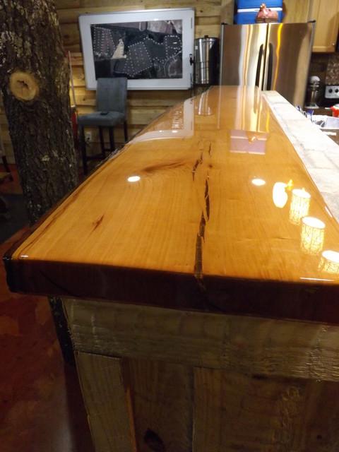 Oak Bar Top- Statesboro, GA - Rustic - Home Bar - other ...