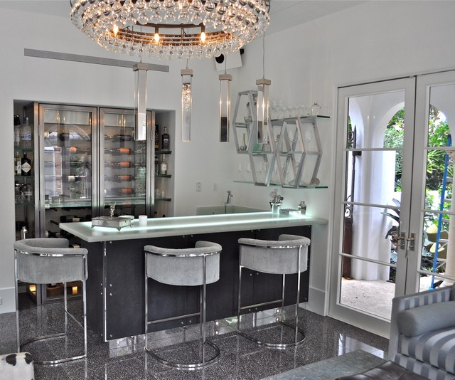 Ocean front estate modern home bar other metro by for Quick home bar design ideas