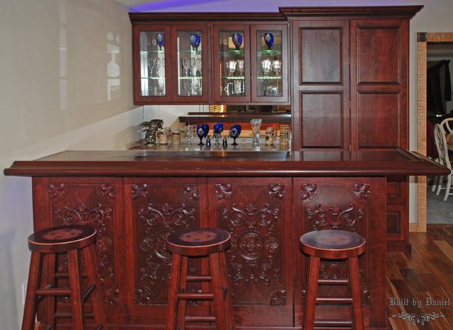 Ornate Cherry Bar And Back Bar