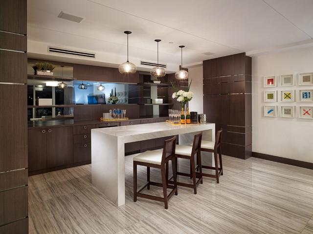 Penthouse Contemporary Home Bar Miami By Guimar