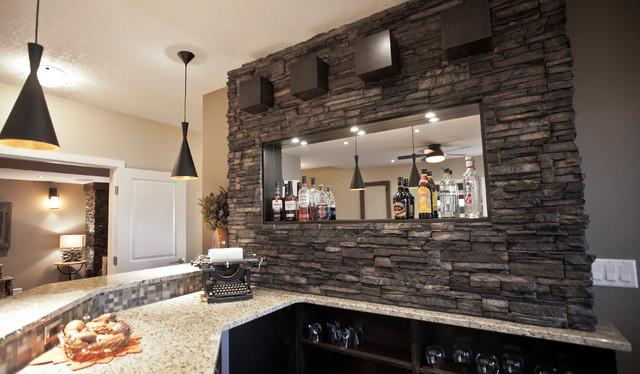 Pioneering Exquisite Designstone Basement Wetbar And Dark