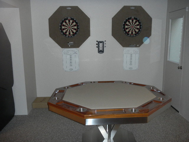 Poker Table by MITCHELL Pool Tables contemporary-home-bar