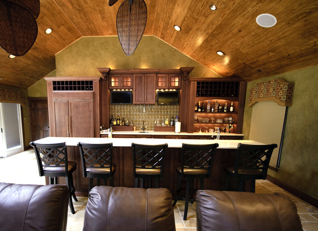 Pool side south african theme sports bar theater poker eclectic home bar philadelphia by South african kitchen designs