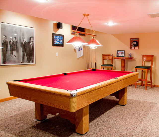 Pool Table Traditional Home Bar New York By Rikki
