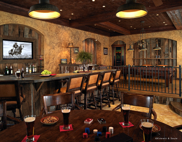 Portafino Men 39 S Club Room Rustic Home Bar Other By Nasrallah Architectural Group Inc