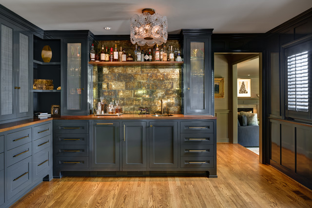 Portland Dunthorpe Remodel Traditional Home Bar Portland By Cornerstone Construction
