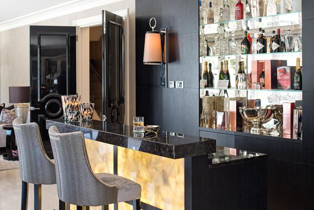 Private Estate Surrey Contemporary Home Bar Surrey