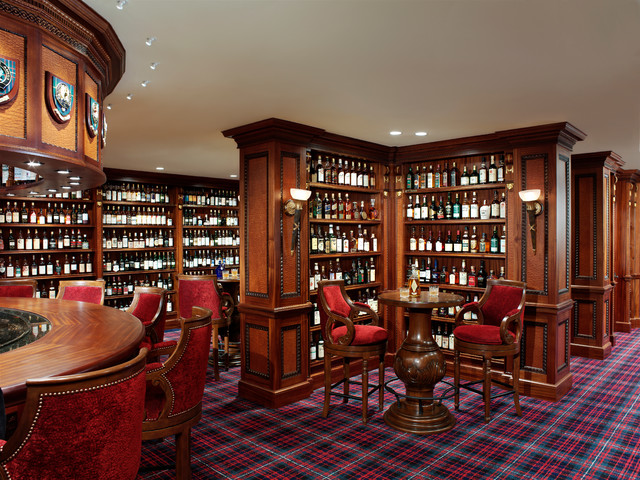 Private Scotch Collection Traditional Home Bar