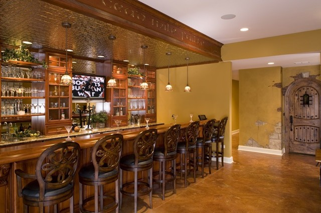 basement lighting ideas low ceiling - Pub Eclectic Basement chicago by Rigsby Builders Inc