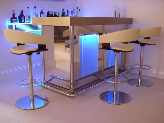 Q l corner bar with litebar back shelf