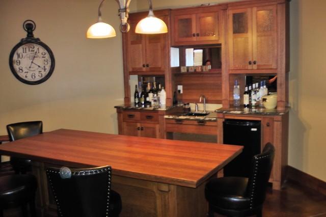 Quartersawn Oak Back Bar And Refurbished U201cMercantile Counteru201d Bar Table  Craftsman Home