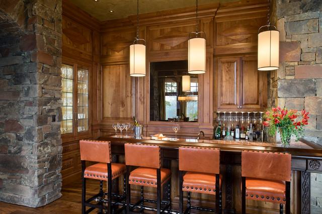 Quartz Residence rustic-home-bar