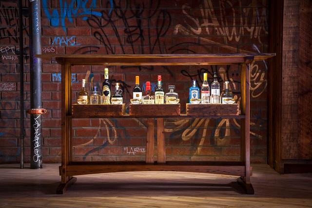 Reclaimed Bar Table Craftsman Home Bar Los Angeles By Joel Paul Design Reclaimed Furniture