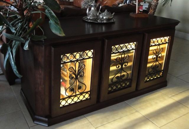 Refrigerated Wine Cabinet - Transitional - Home Bar - Austin - by Cru Wine Furnishings