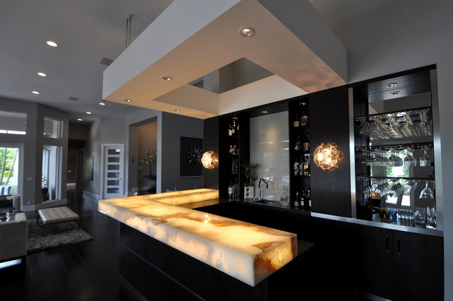 renovation west delray beach fl modern home bar - Salon Modern Evintage