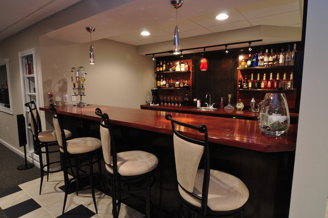 Residential and commercial bars modern basement other metro by macik custom woodworking - Residential bars ...