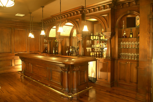Residential Bar NJ Traditional Home Bar