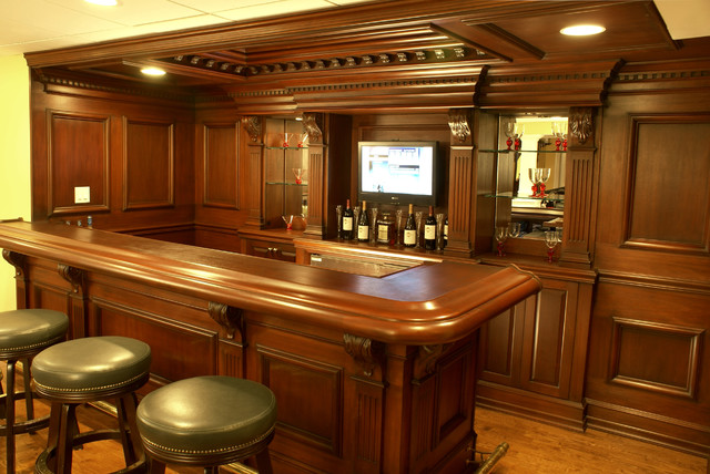 Custom residential bar traditional home bar newark Residential bar design ideas